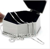 Wholesale 5 PCS 925 silver box chains 1mm 22 inch Free Shipping