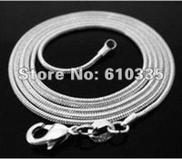 Wholesale 5 PCS 925 silver snake chains 1mm 22 inch Free Shipping