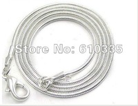 Wholesale 5 PCS 925 silver snake chains 2mm 24 inch Free Shipping