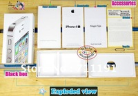 For iPhone 4S 4 EU Pakcage Retail box only + GB Lable + Tray Pin + Full manual guide Booklet Real Pic Wholesale Enough in stock
