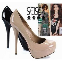 New arrival fashion Platform Pumps SEISEN Sexy Stiletto High Heels shoes round toe Lady Shoes Dilys store 056