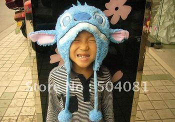 ChristmasWINTER cap Beanies many styles cartoon hats LOVELY PLUSH ANIMAL hat Stitch spongebob kt  Cat domo child cap Novelty Toy