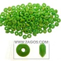 Wooden beads supplier, Rondelle, made of Wood,Green, 3mm long,6mm thick, with one hole,WB0037