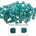 Wooden beads supplier, Cube, made of Wood, Blue, 6mm long,6mm thick, with one hole,WB0053