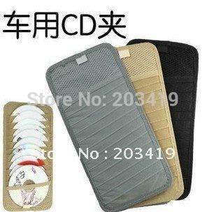 Universal Design auto Car Sun Visor 12 CD Storage holder Organizer  Bag box case Hanging  pocket 3 color wholesale retail whcn