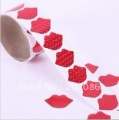 Trialsale 100pcs Lips style Stickers Lips shape adhesive stickers Lips Labels Free shipping