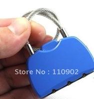 Password steel rope padlock anti-theft lock luggage travel