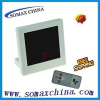 Freeshipping,4.7 Inch HD Mirror Clock Digital Video Camera Recorder DVR with Remote Control