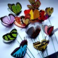 36pcs 8.5cm 3D Artificial Butterfly for Wedding Cake  Wedding DecorationsWedding Cake Favor Home Decoration 8.5cm(FREE SHIPPING)