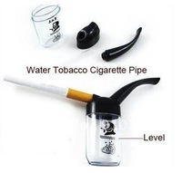 FREESHIPPING/EMS,Retail Pack mini plastic Circulation Cigarette pipe for healthy smoking water filter hookah,health care product