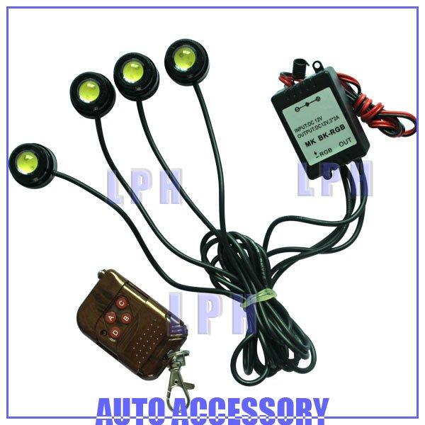 4*1.5W IP68 strobe flash eagle eye light led daytime running light led car reversing light LP13001(China (Mainland))