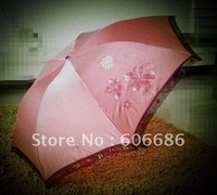 Fashion 3Folding Umbrella Sun  Women Lace Gift Umbrella lightweight small Factory Price Umbrella