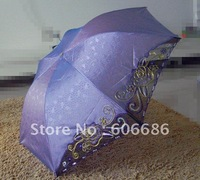 Fashion Silk Umbrella 3Folding  Sun and Rain Summer Gift Umbrella  pencil Umbrella Factory Price Chinese manufacturer