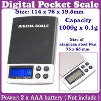 10pcs/Lot_0.1-1000g Mini Electronic Digital Balance Weight Scale_Free Shipping