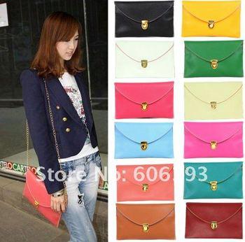 Free shipping Ladies' PU Hand Bag Fashion Handbag Clutch Bag Womens Inclined Messenger Shoulder Bag