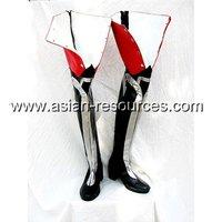 Cheap Wholesale/Retail Long Black Cosplay Shoes&Boots D.Gray Man Jasdevi Jastero & Devit Halloween Chiristmas Party Costume 0316