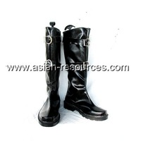 Cheap Wholesale/Retail Long Black Cosplay Shoes&Boots Final Fantasy Sephiroth Halloween Chiristmas Party Costume Suit S0404