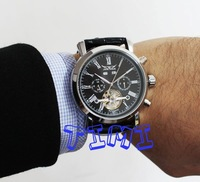 2014! New Black Timepiece Army Military Automaical Mens Mechanical Wrist Watch freeship