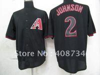 Free shipping-Arizona Diamondbacks #2 Johnson Black Fashion jersey,Diamondbacks jerseys,baseball jerseys
