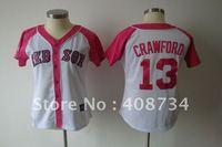 Free shipping-Boston Red Sox #13 Carl Crawford 2012 Ladies Fashion jersey,Red Sox jerseys,baseball jerseys