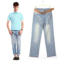 2012 Free Shipping Men&amp;#39;s Slim Fit Classic Men Jeans Trousers Straight Leg, European Jeans, Size S/M/L/XL/XXL, MOQ: 1pc  AD9912LJ