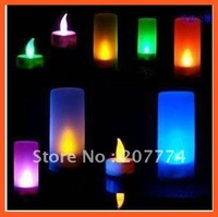 LED candle light, 7 colors changing candle, candlelight for wedding or party, New Arrival Free shipping!
