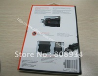 50pcs/lot Dual USB 2.1A Micro Car Auto Charger with 30 pin USB cable for iPhone iPad in Retail Packing package Black