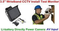 "Wristband CCTV Tester Monitor  3.5"" TFT LCD Monitor 12V OUTPUT"
