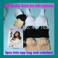 EMS to AU/JP/South Asia etc FreeShipping 30pcs/lot=10 boxes(3pcs/box) Genie Bra Yoga Bra with removal cushion pads