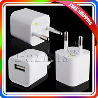 Free Shippping Brand New EU USB Wall Travel Charger Adapter Phone Player MP3 50Pcs/Lot  Wholesale