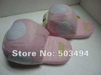 Super Mario Brothers Pink white Toad Mushroom plush Slipper Super Mario Brothers Pink Toad Mushroom Plush slipper