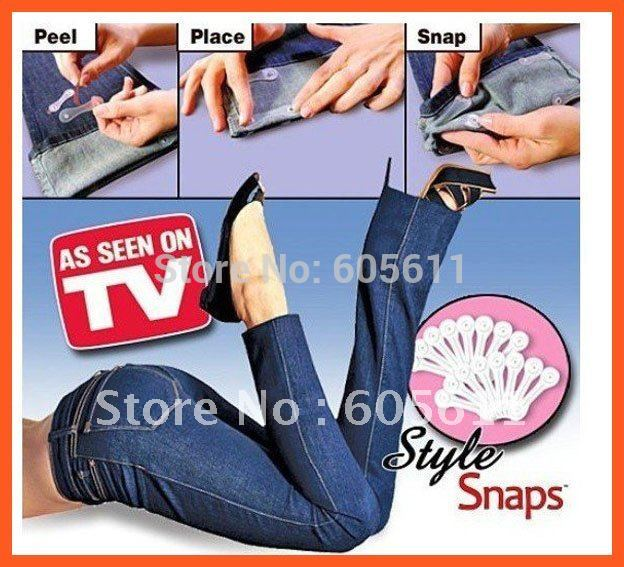 Sakura's Hemming My Way As Seen On TV Style Snaps low price sale (1Pack=32Pieces) trousers Clips/pants Snaps Free Shipping(China (Mainland))