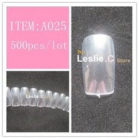 Free shipping 500pcs/Set 10 size Full Cover Corea salon False Nail Art Tips/#A025