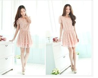 Женское платье 2012 women's graceful patchwork formal wear slim fit work summer OLdress 3 color SML size in stock JY86896