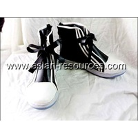 Cheap Wholesale/Retail Long Black Cosplay Shoes&Boots Final Fantasy TIFA Halloween Chiristmas Party Costume Suit S0412