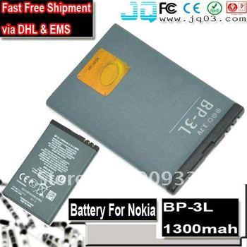 Fast Free Shipment Via EMS DHL  new original  BP-3L 3L Battery For Nokia Lumia 710 710 701  Asha 303 603