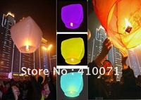 New 20pcs Mixed Color UFO Sky Wishing Lantern Chinese Lantern Birthday Wedding Christmas Party Lamp ,FREE SHIPPING