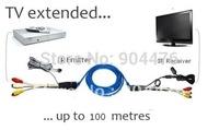 Hot!Set Top Box TV Audio Video IR Network Cable Extender 1 IR sender & 1 IR emitter+free shipping