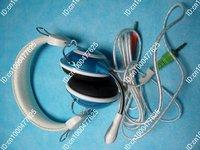 NEW 100% 50pcs Popular Multimedia Headset Headphone Micro Volume Control for MSN Skype PC/Laptop via chinapost