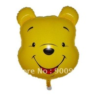 Large Winnie Bear Design Foil  Balloon Helium Balloon 50 PCS/LOT