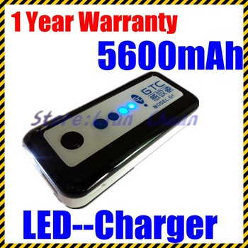 Portable 5600mAh Capacity Power Source FOR Iphone 4/4s IPAD for android tablet charger USB Mini LED-Light indictor Freeshipping