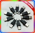 Black USB A to Mini B Adapter Converter 5pin USB Cable For MP3 MP4 50Pcs/Lot Wholesale