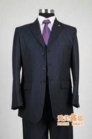 shiny 42 L Long 2 Button Mens Black Suit MARCHATTI 2B MEN'S SUIT SOLID DARK 50L 50 L FREE FAST SHIP HEM-UP & TIE