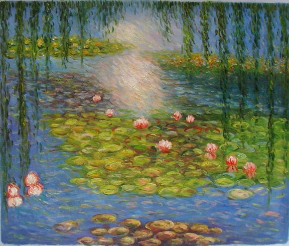 Van Gogh Water Lilies Painting Free-shipping-reproduction-oil-painting ... Water In Hand