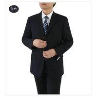 custom-made 48R black Pinsripe Mens Suit - Flt Front Pants 43W Perfect! shiny 100% Wool FREE FAST SHIP HEM-UP & TIE