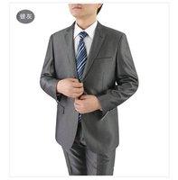 Mens Mid Gray Tonic Shiny Suit 2 Tone Slim Fit Business Weddings & Proms 36 Reg 100% Wool FREE FAST SHIP HEM-UP & TIE