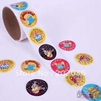 Trialsale 100pcs Birthday Stickers Promotional Gifts adhesive stickers Labels Free shipping