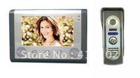7 'TFT Color  Video Door Phone Doorbell Intercom Kit 1-camera 1-monitor Night Vision