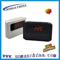 Freeshipping,Mini Digital Clock Camera DVR Motion Detect Alarm Video Recorder