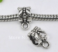 2000 Silver Tone Bail Beads. Fits Charm Bracelet 6x8mm  / fashion jewelry Diy Free shipping